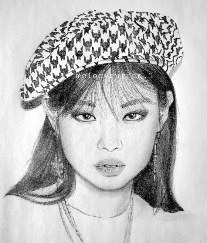 Jennie Blackpink, Drawing video, Blackpink members, blinks
